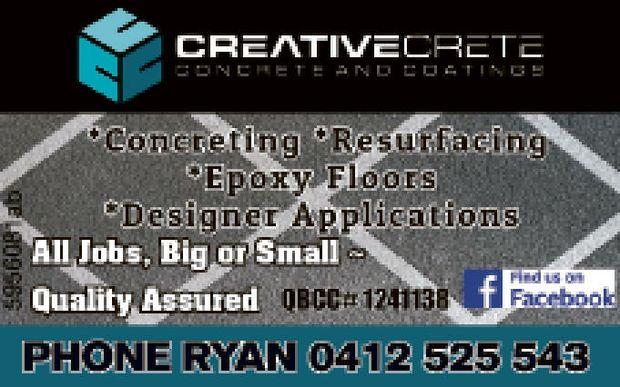 Concreting  Resurfacing  Epoxy Floors  Designer Applications  All jobs bi...
