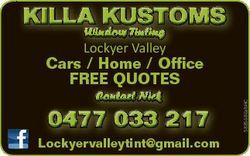 Window Tinting   Lockyer Valley   Contact Nick 0477 033 217 Lockyervalleytint@gmail.com...