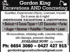 Gordon King Excavations AND Concreting
