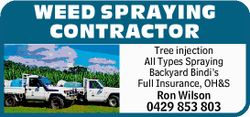 Need the weeds sprayed in your yard? Company gardens over-grown?    Tree injection  A...