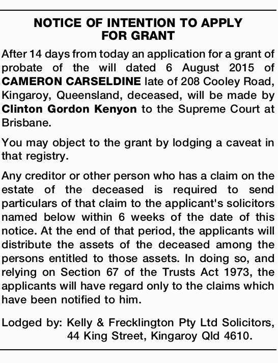 notice classifieds qld Brisbane