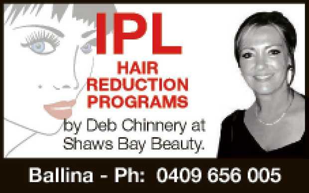 IPL   by Deb Chinnery at Shaws bay Beauty.   Ballina - Ph: 0409 656 005