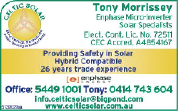 Enphase Micro-Inverter Solar Specialists Elect Cont Lic No 72511 CEC Accred A4854167    ...