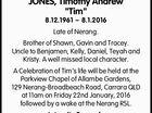 "JONES, Timothy Andrew ""Tim"""