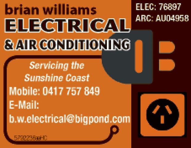 Serviceing the Sunshine Coast Call now!   ELEC: 76897   ARC: AU04958
