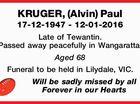 KRUGER, (Alvin) Paul