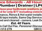 Bruce Edwards - All Hours Plumber