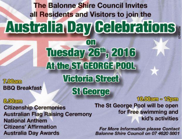 7.00am BBQ Breakfast 10.00am to 12.00pm 8.30am Citizenship Ceremonies Australian Flag Raising Cer...