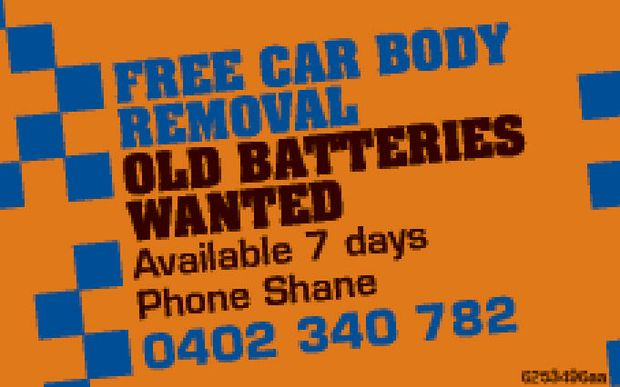OLD BATTERIES WANTED    Available 7 days   Phone Shane 0402 340 782