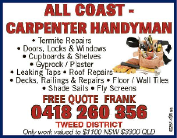 Termite Repairs  Doors, Locks & Windows  Cupboards & Shelves ...