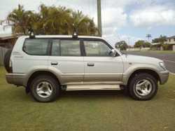 2002 PRADO VX Automatic, petrol, new tyres, new battery, rwc, GC, $8500. Phone mobile 0419893681...