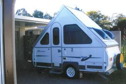 A'VAN Aliner 2010, registered 7/16, very good condition, hardly used, as new, double bed, f...