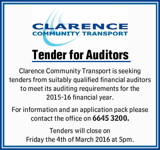 Tender for Auditors