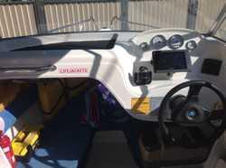 2008 model powered by 70HP 4 stroke Suzuki on Dunbier trailer, safety gear, canopy, sounder/GPS etc