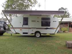 16 foot caravan in good condition. Layout rear island double bed, front dinette and centre kitchen. ...