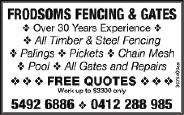 FRODSOMS FENCING & GATES 