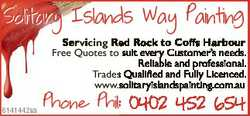 Solitary Islands Way Painting Servicing Red Rock to Coffs Harbour FFree Q Quotes to suit i every C C...