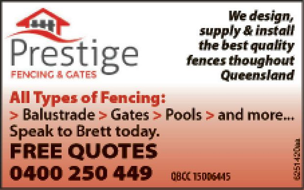 We Design, Supply and Install the best quality fencing throughout Queensland