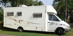 MERCEDES 2005 Motorhome ~ auto, diesel, kitchen, m/wave, fridge, a/c, d/bed, shower/toilet. 92000...