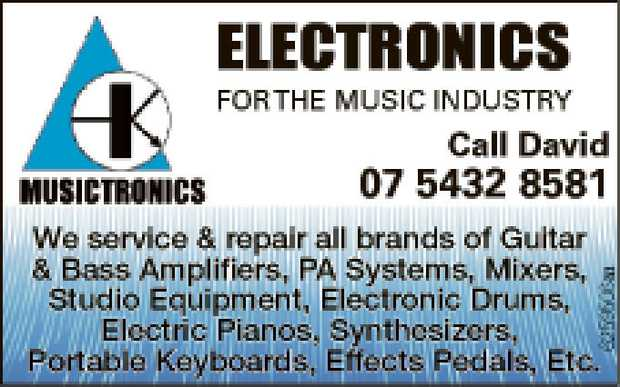 We service & repair all brands of Guitar