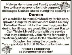 Halwyn Herrmann and Family would like to thank everyone for their support, messages & condolence...