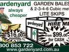 Garden Bales and Skip Bins