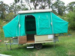 TOPAGEE camper trailer, very good condition, reg 10/4/16, sleeps 4, $3000 neg.