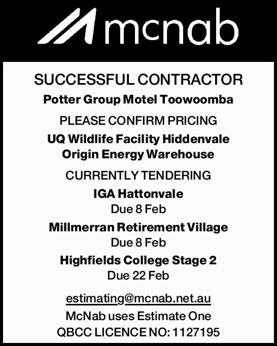 SUCCESSFUL CONTRACTOR