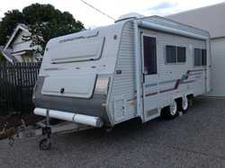 Full caravan with dual axle. Sway bars. New awning with roof rafters and 2 walls. Large, good qualit...