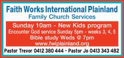 Plainland Family Church www.fwiplainland.org Family service 10am Sunday New Kidzchurch program Ev...