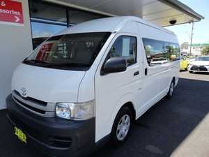 2008 Toyota Hiace KDH223R MY08 Commuter High Roof Super LWB White 4 Speed Automatic Bus