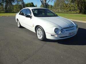 2001 Ford Falcon AU II XR8 White 4 Speed Automatic Sedan