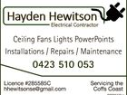 Hayden Hewitson Electrical Contractor
