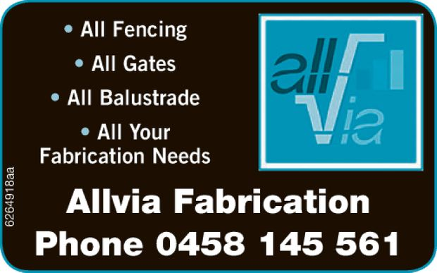 All Fencing   All Balustrade   All Gates   For all your Fabrication needs Allvia Fabr...