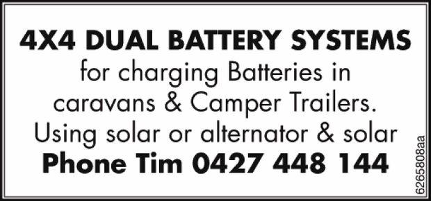 Charging batteries in Caravans and Camper trailers   Using Solar or alternator & solar ...