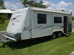 JAYCO Sterling 2008, Great touring van. Full ensuite, w/machine. IBIS a/c, 2 door fridge, Island...