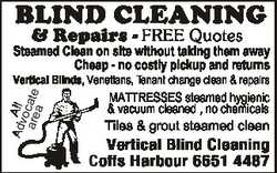 BLIND CLEANING & Repairs - FREE Quotes Steamed Clean on site without taking them away Cheap - no...
