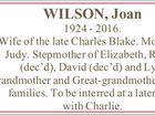 WILSON, Joan