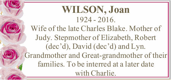 WILSON, Joan