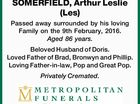 SOMERFIELD, Arthur Leslie (Les)