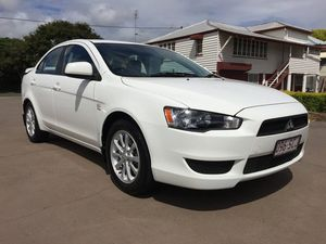 2011 Mitsubishi Lancer CJ MY11 SX White 6 Speed Constant Variable Sedan