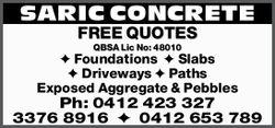 FREE QUOTES  QBSA Lic No: 48010    Foundations  Slabs  Driveways  P...