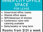 INNER CITY OFFICE SPACE  FOR LEASE