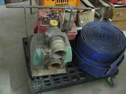 5hp b&s motor, hose & fitting