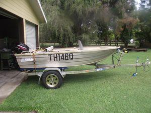 3.4m Seajay Alum. Boat/Trailer/Motor