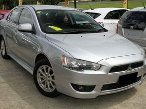 2012 Mitsubishi Lancer CJ MY13 LX Silver 6 Speed Constant Variable Sedan
