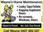 WAYNE'S HOME MAINTENANCE