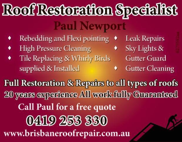 Paul Newport    Gutter Cleaning  Gutter Guard  Skylights  Leak Repairs  ...