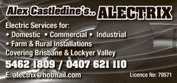 Alex Castledine's..   ALECTRIX      Electric Services for:    ...