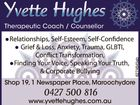 Yvette Hughes Therapeutic Coach / Counsellor